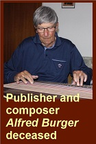 2019-09-13 Publisher and composer Alfred Burger died - clicca qui