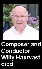 2020-05-07 Composer and conductor Willy Hautvast died - clicca qui