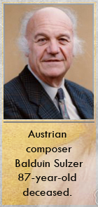 2018-04-12 Austrian composer Balduin Sulzer 87-year-old deceased - clicca qui